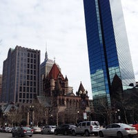 Photo taken at Copley Square by Cristhian M. on 4/16/2013