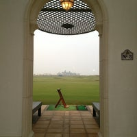 Photo taken at Yas Links Golf Course by Mariska G. on 1/28/2013