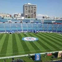 Photo taken at Estadio Azul by Carlos V. on 2/15/2013