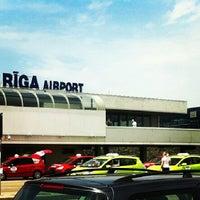 Photo taken at Riga International Airport (RIX) by Marija S. on 7/7/2013