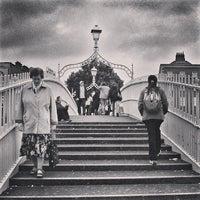 Photo taken at The Ha'penny (Liffey) Bridge by Michael R. on 2/5/2013