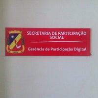 Photo taken at Secretaria de Participação Social by Américo R. on 1/13/2014