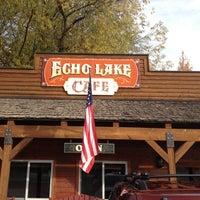 Photo taken at Echo Lake Cafe by Robert on 10/22/2012