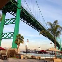 Photo taken at Vincent Thomas Bridge by Ashley S. on 1/6/2013
