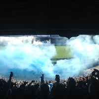 Photo taken at Estadio Juan Domingo Perón (Racing Club) by Andy F. on 4/7/2013