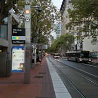 Photo taken at TriMet SW 6th & Pine St MAX Station by Weston R. on 10/24/2012