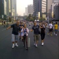 Photo taken at Jalan Jenderal Sudirman by Lita S. on 9/30/2012