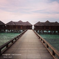 Photo taken at Sheraton Maldives Full Moon Resort & Spa by Nanp on 7/4/2013