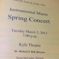 Photo taken at DeKalb School of The Arts by George J. on 3/6/2013