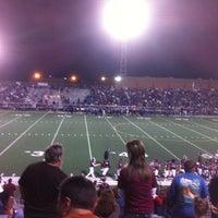 Photo taken at Veterans Memorial Stadium by Aaron T. on 11/10/2012