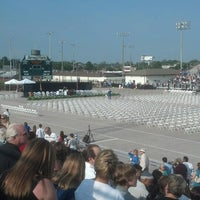 Photo taken at Veterans Memorial Stadium by Kimberly H. on 6/8/2013