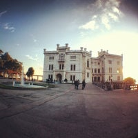 Photo taken at Castello di Miramare by Julia T. on 4/12/2013