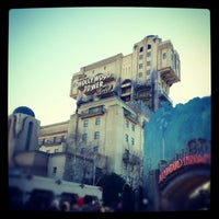 Photo taken at The Twilight Zone Tower of Terror by Marcos E. on 12/29/2012
