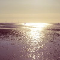 Photo taken at Crosby Beach by Majka on 9/29/2014