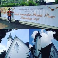 Photo taken at GPIB Paulus Jakarta by Bowie D. on 6/24/2016