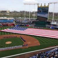 Photo taken at Kauffman Stadium by Dereck A. on 4/8/2013