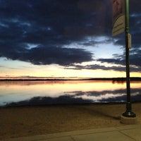 Photo taken at Pewaukee Beach by Jon S. on 10/20/2012
