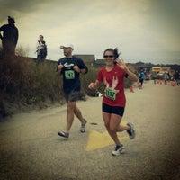 Photo taken at Easton's Beach by Ben T. on 10/14/2012