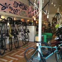 Photo taken at Transit Bicycle Co. by Winnie G. on 2/14/2015
