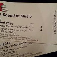 Photo taken at Salzburger Marionettentheater by Fernanda R. on 6/6/2014