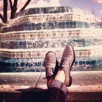 Photo taken at Fluor Fountain by Hannah C. on 2/21/2013