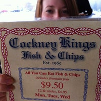 Photo taken at Cockney Kings Fish & Chips Ltd by Dixon T. on 1/21/2013