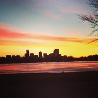Photo taken at Sloan's Lake Park by Hansel L. on 1/25/2014