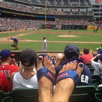 Photo taken at Globe Life Park in Arlington by Kristen M. on 7/25/2013