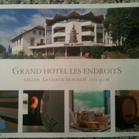 Photo taken at Grand Hotel Les Endroits La Chaux-de-Fonds by Ringo on 1/22/2013