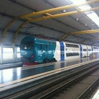 Photo taken at Fiumicino Aeroporto railway station (ZRR) by Benjamin Meukow L. on 9/22/2012