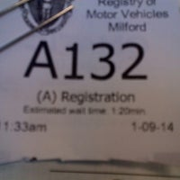 Photo taken at Registry of Motor Vehicles by Ron L. on 1/9/2014