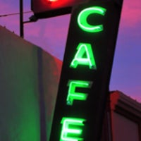 Photo taken at Night & Day Cafe by Kevin L. on 3/4/2015