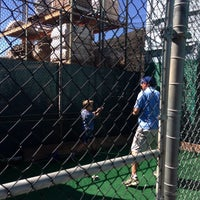 Photo taken at Laguna Beach Batting Cages by Robert A. on 3/9/2014