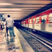 Photo taken at Metro Zócalo by Zeleniux C. on 2/27/2013