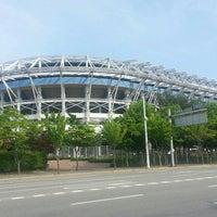 Photo taken at Daejeon Worldcup Stadium by Byung Kook K. on 5/4/2015