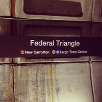 Photo taken at Federal Triangle Metro Station by Jared B. on 4/21/2013
