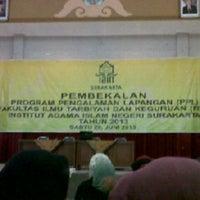 Photo taken at Institut Agama Islam Negeri (IAIN) Surakarta by Missfranita26 on 6/29/2013