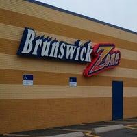 Photo taken at Brunswick Zone - Lowell by Jason F. on 10/7/2012