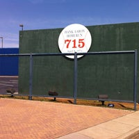 Photo taken at Hank Aaron 715 Home Run Marker by Ed S. on 4/2/2013