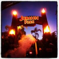 Photo taken at Jurassic Park The Ride by Kanaya M. on 9/29/2012