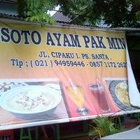 Photo taken at Soto Ayam Pak Min by Pramanto A. on 12/5/2012