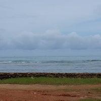 Photo taken at Bailan Beach by JiNa K. on 8/30/2013
