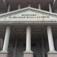 Photo taken at Kompleks Mahkamah Kuala Lumpur (Courts Complex) by munira i. on 8/18/2016