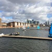 Photo taken at Surrey Docks Watersports Centre by Anna K. on 3/1/2015