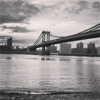 Photo taken at Manhattan Bridge by Gianluca C. on 1/2/2013