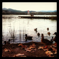Photo taken at Estany de Banyoles by Sara T. on 11/21/2012
