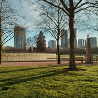 Photo taken at Bellevue Downtown Park by Samson N. on 3/24/2013