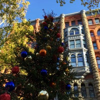 Photo taken at Pioneer Square Pergola by Kerry M. on 11/28/2015