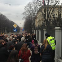 Photo taken at Krievijas vēstniecība | Посольство России by katrina p. on 3/1/2015