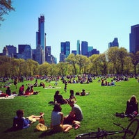 Photo taken at Sheep Meadow - Central Park by Price P. on 4/28/2013